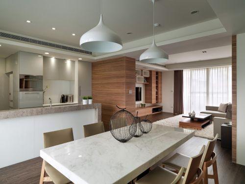 素雅现代风格餐厅灯具装修设计