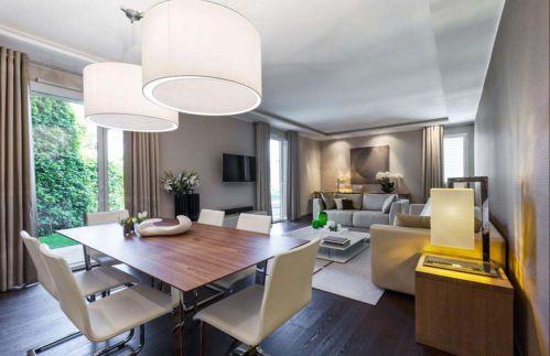 精致现代风格二居室餐厅装修设计