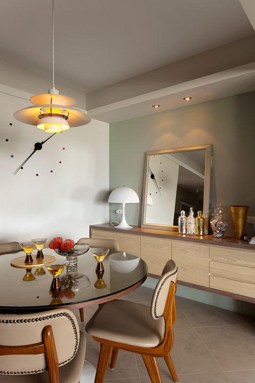 创意现代风格餐厅背景墙装修图片