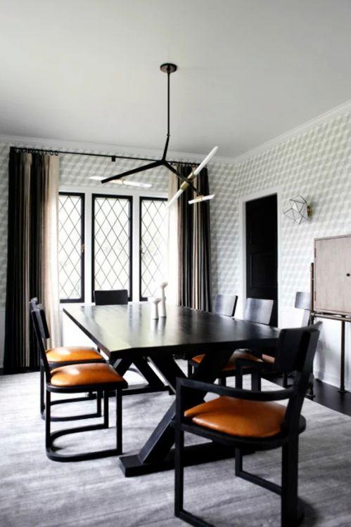 黑色精致现代风格餐厅装修效果图