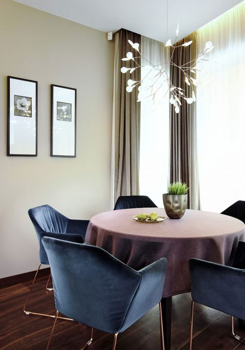 优雅小资现代风格餐厅装修实景图