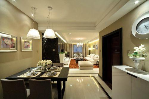 现代简约三居室餐厅装修设计图