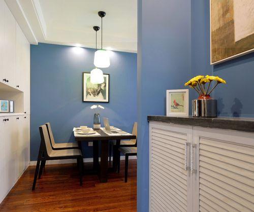 淡蓝色现代简约餐厅设计效果图