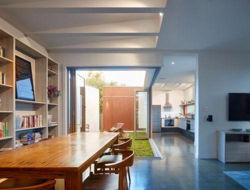 亮丽气质现代简约风格餐厅装修实景图
