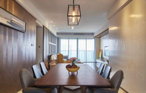 雅致原木色现代风格餐厅装修图片