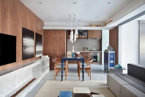 现代风格优雅餐厅精致灯具装修图片