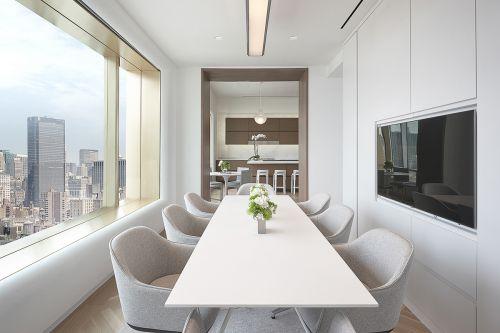 白色气质现代风格餐厅装修实景图