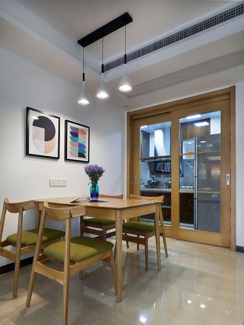 现代简约二居室餐厅餐桌装修效果图欣赏