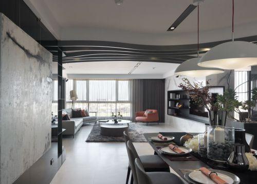 灰色调现代简约风格餐厅设计效果图