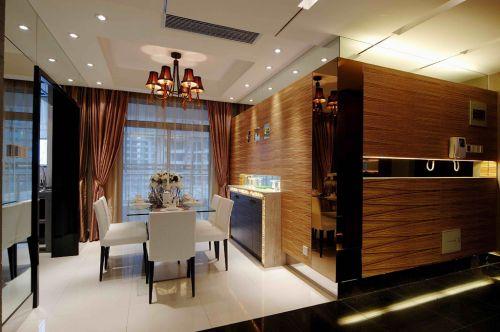 时尚现代90平小户型简约装修餐厅实景图