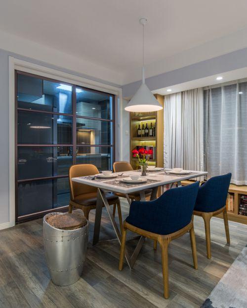 家装大气现代风格餐厅餐桌装修效果图