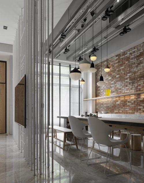 时尚清新现代简约风格餐厅设计效果图