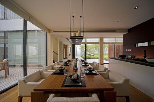 现代风格别墅设计时尚优雅餐厅装修效果图