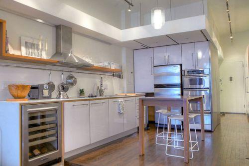 现代简约一居室餐厅灯具装修图片