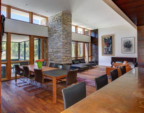 气质现代简约风格原木色餐厅装修设计