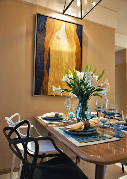 华丽现代简约风格餐厅装修案例