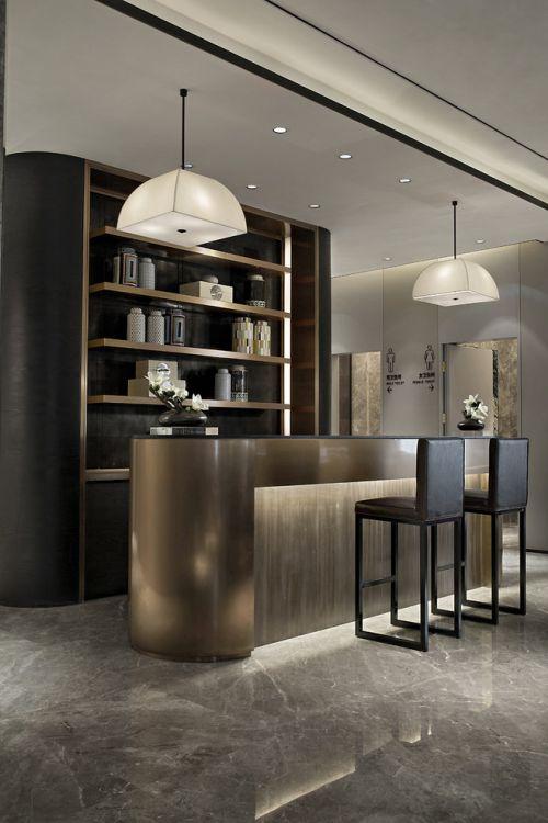 现代风格别墅餐厅酒柜装修效果图