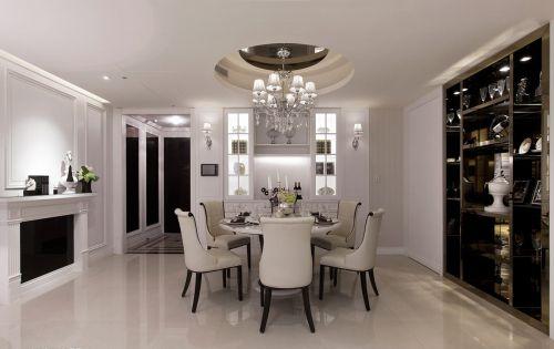 白色现代风格餐厅餐桌装修设计