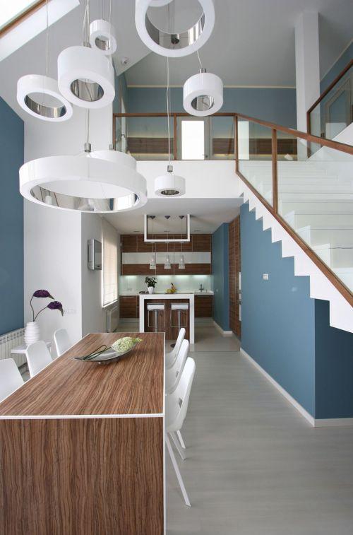 现代风格时尚创意餐厅灯具装修设计图