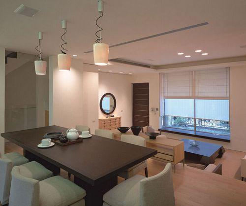 现代干练日韩风格跃层餐厅装修效果图