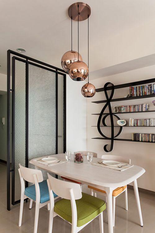 现代风格餐厅灯具装修效果图