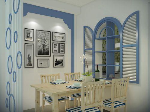 现代简约二居室餐厅装修图片