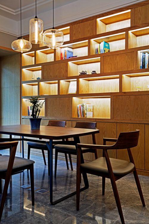 个性现代风格餐厅餐桌灯具装修效果图