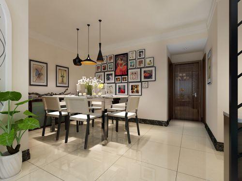 现代简约三居室餐厅照片墙装修效果图欣赏