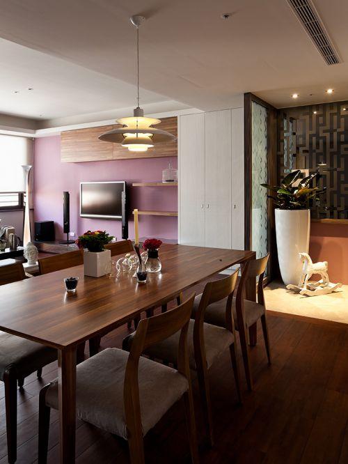 简约现代风格餐厅餐桌装修设计