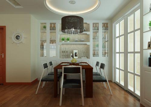 现代简约二居室餐厅灯具装修效果图大全