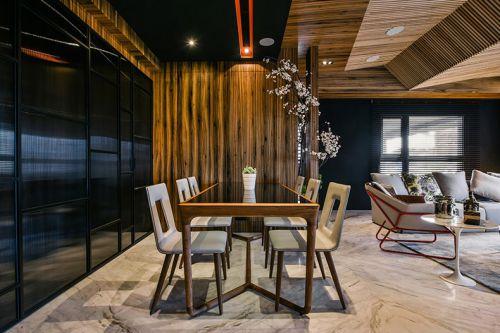 轻奢精致现代风格餐厅装修效果图