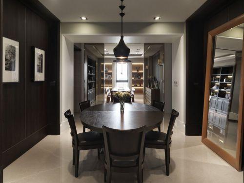 黑色家装现代风格餐厅餐桌装修图片