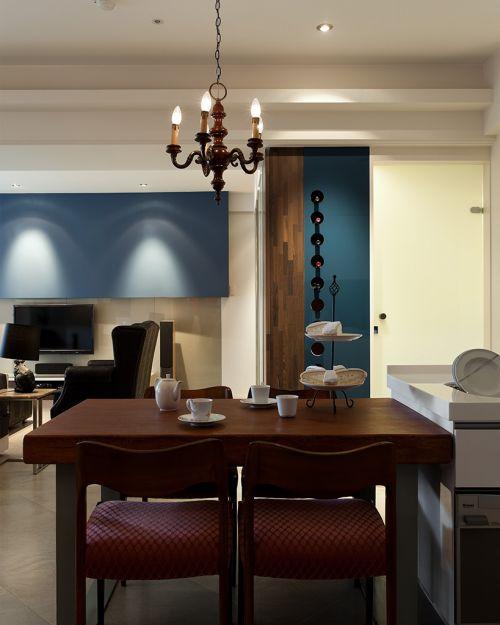轻奢雅致现代风格餐厅灯具装修设计