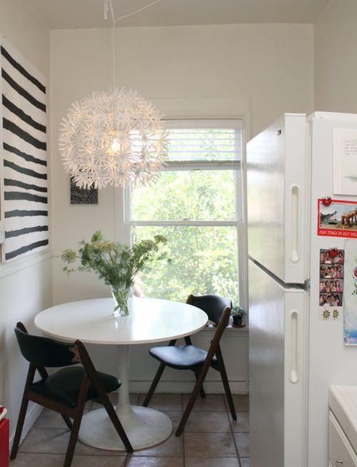 清新现代风格小户型餐厅灯具装修图片