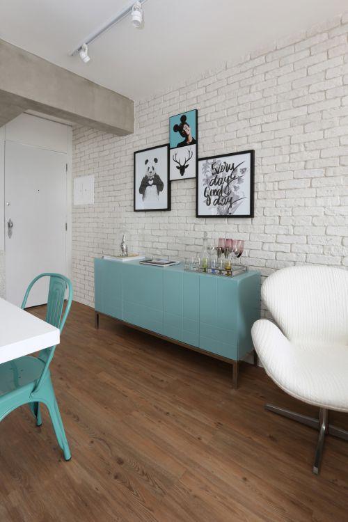 素雅简约现代风格餐厅背景墙装修设计