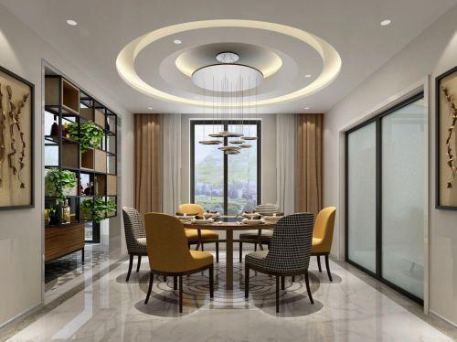 现代简约六居室餐厅楼梯装修效果图