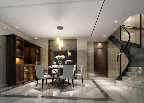 现代简约四居室餐厅楼梯装修效果图欣赏