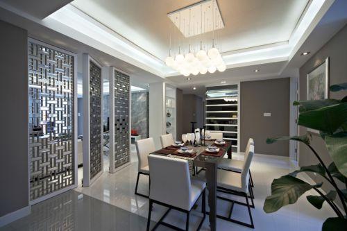 现代简约四居室餐厅瓷砖装修效果图大全