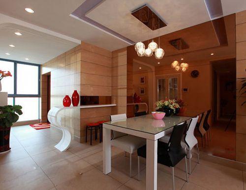 现代简约三居室餐厅储物柜装修效果图欣赏