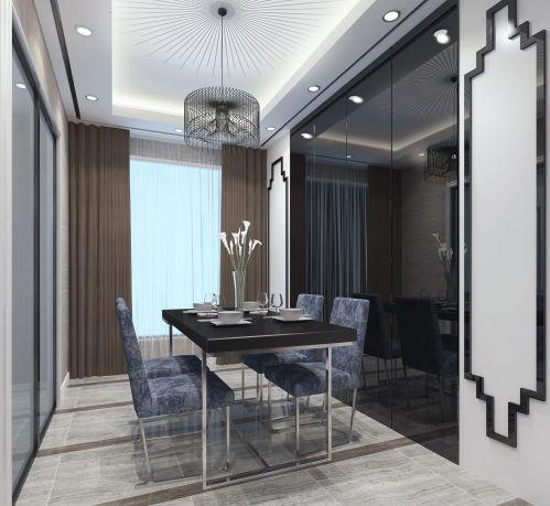 后现代港式二居室餐厅装修效果图