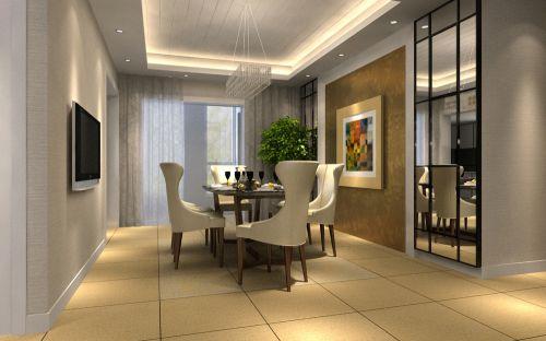 现代简约六居室餐厅装修效果图欣赏