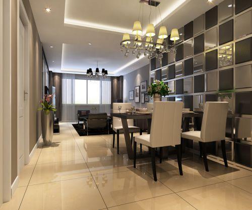 现代简约三居室餐厅餐桌装修效果图