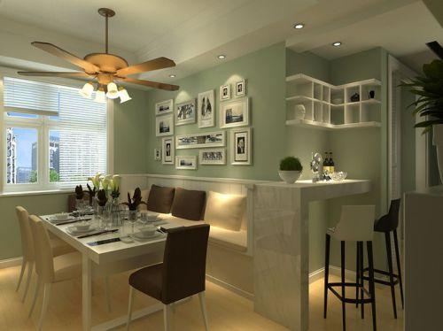 现代简约二居室餐厅吧台装修效果图