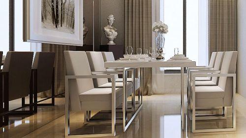 现代简约二居室餐厅吧台装修效果图大全