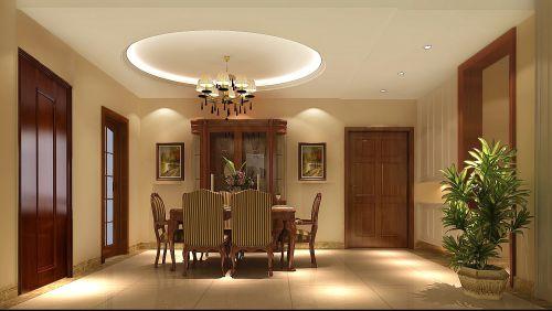 现代简约三居室餐厅餐桌装修效果图大全