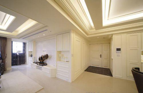 纯白色系现代风格储物柜餐厅