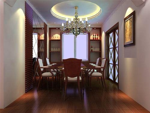 现代欧式三居室餐厅装修效果图大全