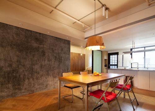 现代风格个性背景墙餐厅装修效果图