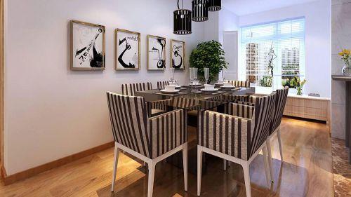 现代简约三居室餐厅吧台装修效果图大全