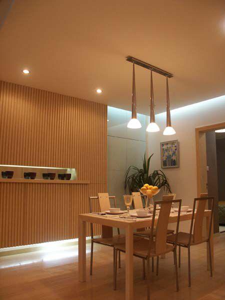 现代简约三居室餐厅隔断装修效果图大全
